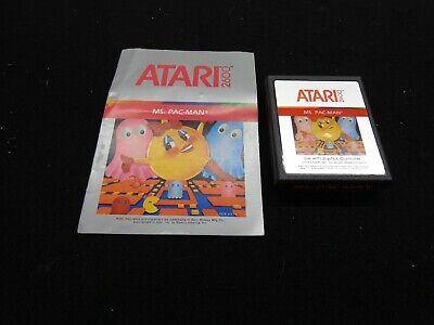Atari 2600 Ms. Pac-Man Game & Manuel FREE SHIPPING