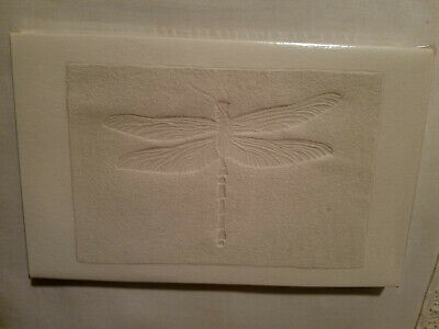 DRAGONFLY FOSSIL EMBOSSED JOURNAL, 50 SHEETS, RECYCLED PAPER, BY XYZ