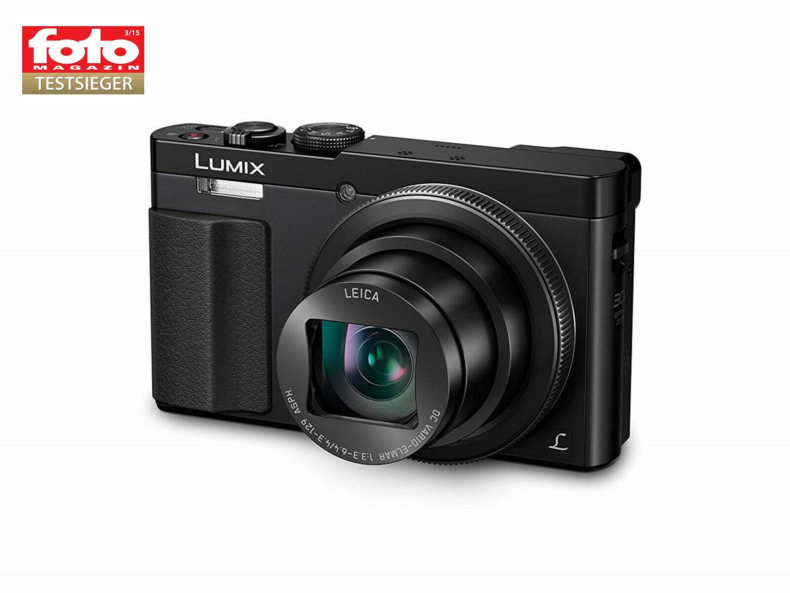 Panasonic Lumix DMC-TZ71  12.1 MP Kompaktkamera SCHWARZ Digitalkamera Fotokamera