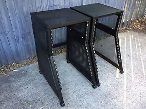 """2 x 19"""" Audio Rack Stands on Wheels - 17RU Southport Gold Coast City Preview"""