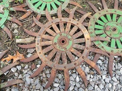 Vintageantique - Tiller Head Cultivator Rotary Hoe Wheel Farm Equipment
