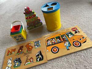 Vintage Fisher Price Toys Bulk Lot