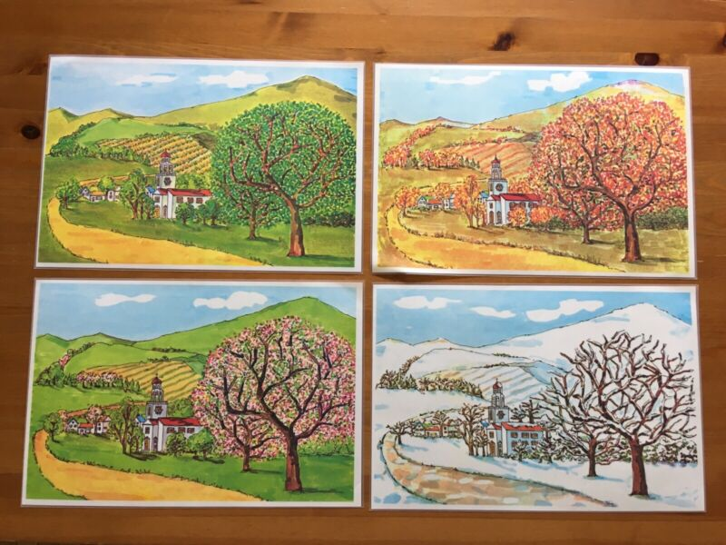 Vintage Maxwell House Placemats Cora Kitchen Tips Seasonal Landscape Set of 4