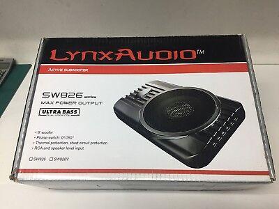Lynx Car Audio Active 8  160W Max Subwoofer Enclosure Fits Under Seats