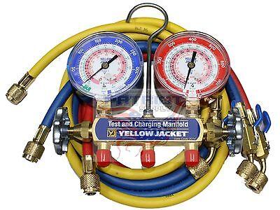 Yellow Jacket 42201 Manifold 3-18 Gauges 60 Hose Psi R22404a410a F