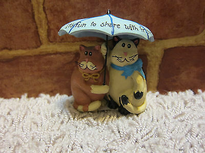 NWT Blossom Bucket Cats ITS FUN TO SHARE WITH FRIENDS  Resin figurine 860