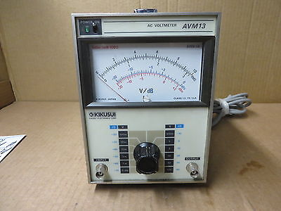 Kikusui Ac Voltmeter Avm13