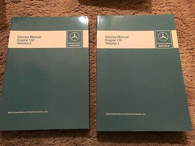 MERCEDES WORKSHOP SERVICE MANUAL ENGINE M110 110 VOLUME 1 and VOLUME 2