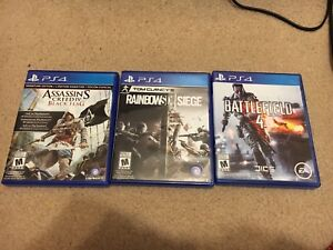 Three Sony PS4 games
