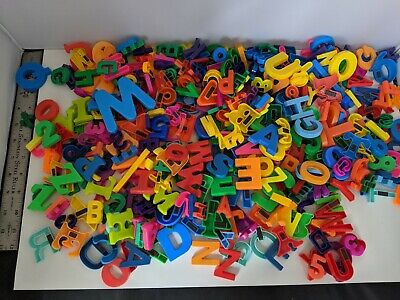 HUGE Lot Of ABC Alphabet Letters Refrigerator Magnets Over  375 Pieces