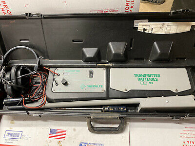 Greenlee 521a Wire And Valve Locator System Tracer Underground Tracker Tested