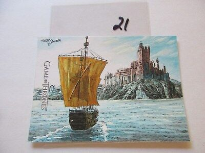 Game of Thrones Valyrian Steel Color Sketch Card by Tirso Llaneta - 21