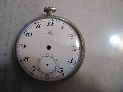 Vintage Omega cal.38,5 LT Case And Enamel Dial For Pocket Watch
