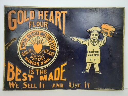 Antique Gold Heart Flower North Dakota Miller