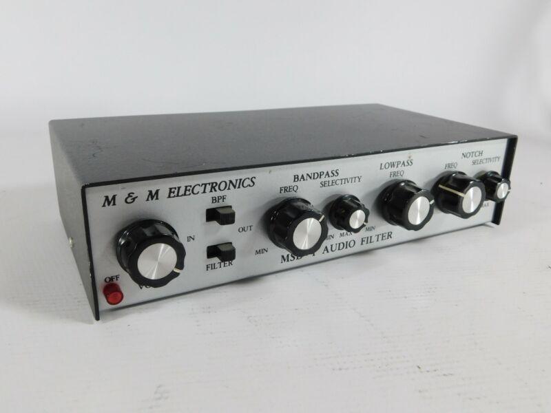 M&M MSB-1 Vintage Ham Radio SSB CW Audio Filter (works well)
