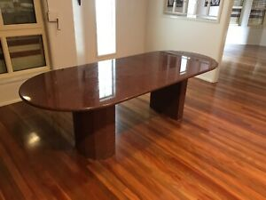 Solid Quartz Oval Dining Table