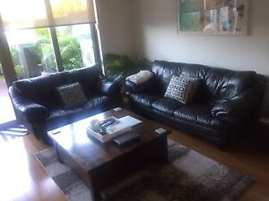 Leather Lounges (combo) St Peters Marrickville Area Preview