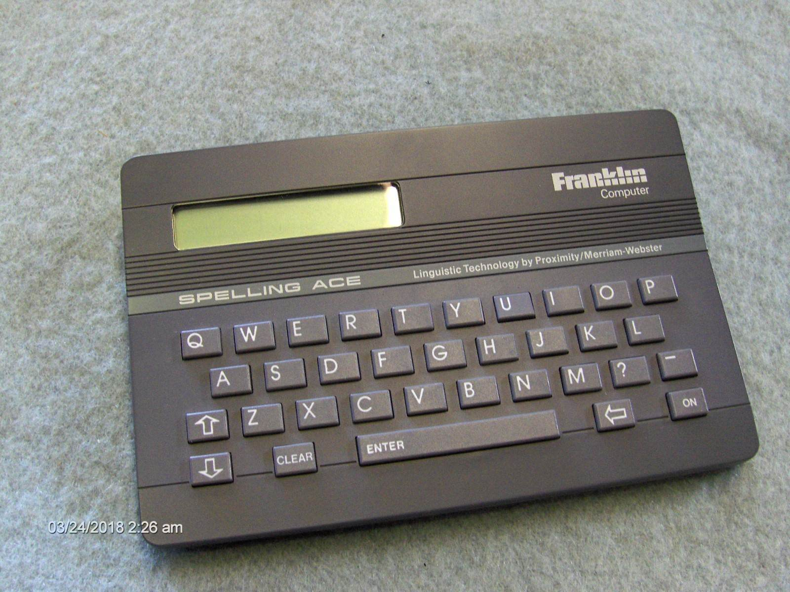 1987 Vintage Hand Held Franklin Computer Spelling Ace SA-98 Works great