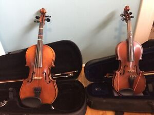 Violins 3/4 and 1/4 sizes
