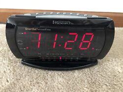 Emerson Research SmartSet CKS2235B Digital Alarm Clock AM/FM Radio BLACK