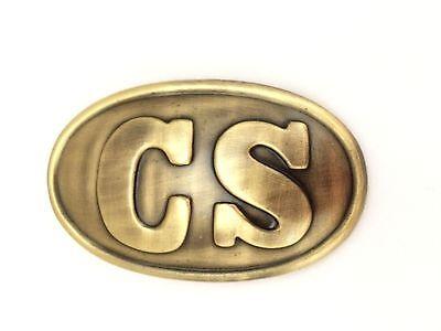 CIVIL WAR Confederate C.S.A. Waist Belt Buckle Plate.Replica NEW Bagged
