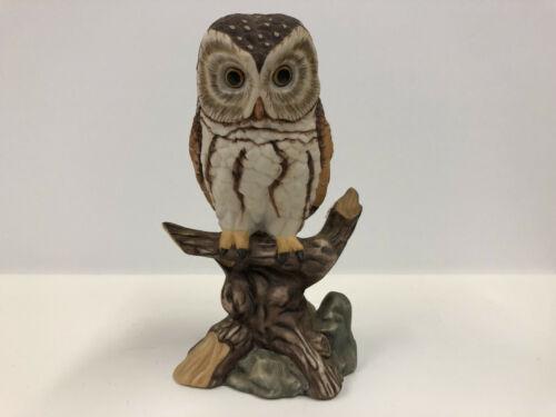 RICHARDSON OWL Porcelain Bird Figurine - John James Audubon