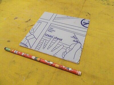 Lexan Clear Polycarbonate Sheet Glazing Plastic Flat Stock 18 X 6 X 6