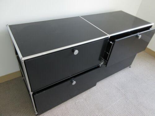 USM Haller 4-Drawer Storage Cabinet in Black