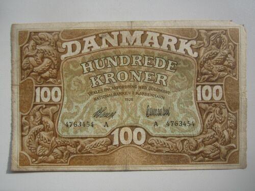 1928 DENMARK 100 KRONER