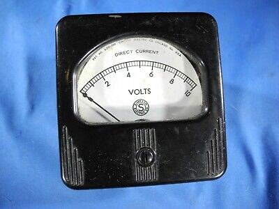 Vintage Simpson Panel Meter 0-10 Volts Dc Gauge