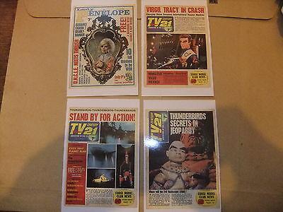 GERRY ANDERSON THUNDERBIRDS SET OF 8 DVD POSTCARDS TV 21 COMIC COVERS CENTURY