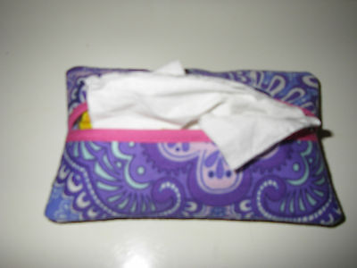 Tissue Holder Made w/ Vera Bradley Lilac Tapestry Fabric Great Gift -