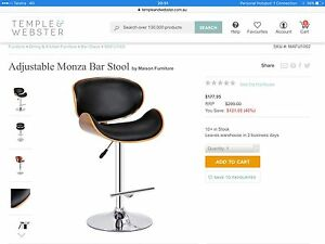 4 Temple and Webster adjustable bar stools RRP $177 Mosman Mosman Area Preview