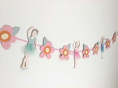 Ballerina Birthday Party Supplies Decorations Ballet Bunting Garland Banner girl (Ballet Birthday Party Supplies)