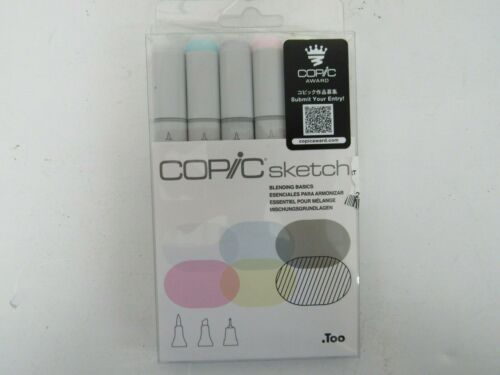 Copic Markers 6-Piece Sketch Set, Blending Basics — FREE SHIPPING