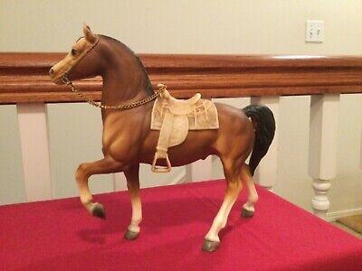 Breyer Vintage # 114 Western Prancing Horse, Cheyenne with saddle & reins