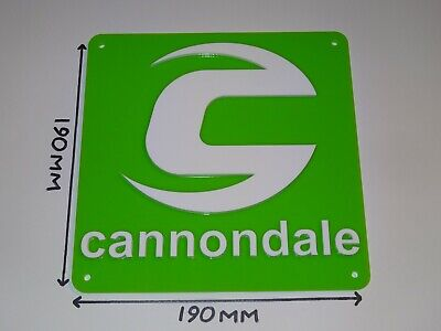 Cannondale Road Bike. Cannondale Cycling Acrylic Sign Green & White 190x190mm.