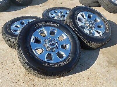 """Used, 20"""" Ford F-250 F-350 OEM 2018 2019 rims wheels tires chrome OE 2016 2017 10100 for sale  Houston"""