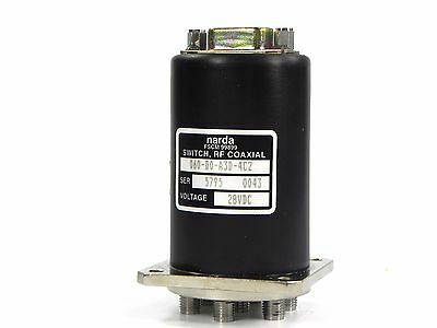 Narda 060-d0-a3d Switch Rf Coxial Dc To 18 Ghz Sp6t 50 Ohm Opt. 4c2 28vdc