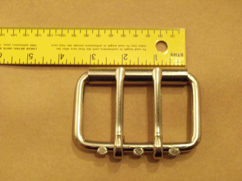 "3"" Nickel Plated / Steel Heavy Duty Roller Buckles"
