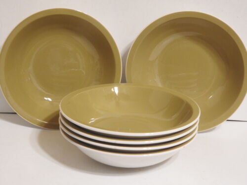 Premiere Colorama Olive Green Soup Cereal Bowls