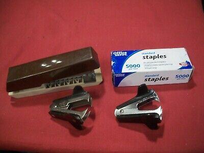 Stapler Staples 2 Staple Removers 4 Pc. Lot