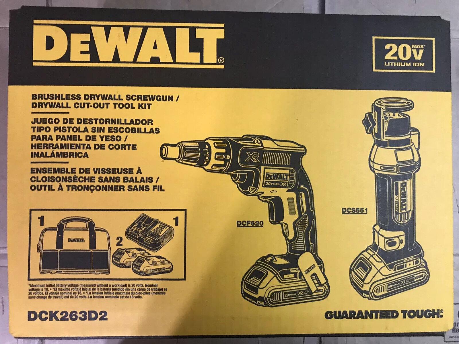 DEWALT DCK263D2 20-Volt MAX XR Drywall Screwgun/Cut-out Tool