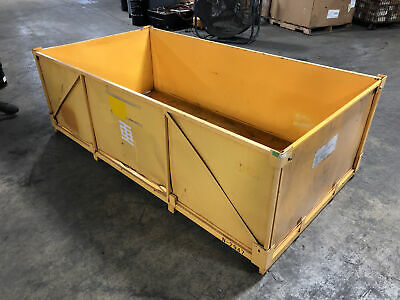 Metal Stackable Warehouse Tote Shipping Crate Storage Container 88x46.5x25.5