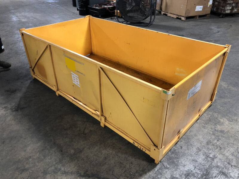 """Metal Stackable Warehouse Tote Shipping Crate Storage Container 88""""x46.5""""x25.5"""""""