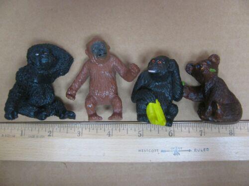 AAA Baby Animals Cubs Brown Bear Leaf Gorilla Ape Monkey Orangutan Figure
