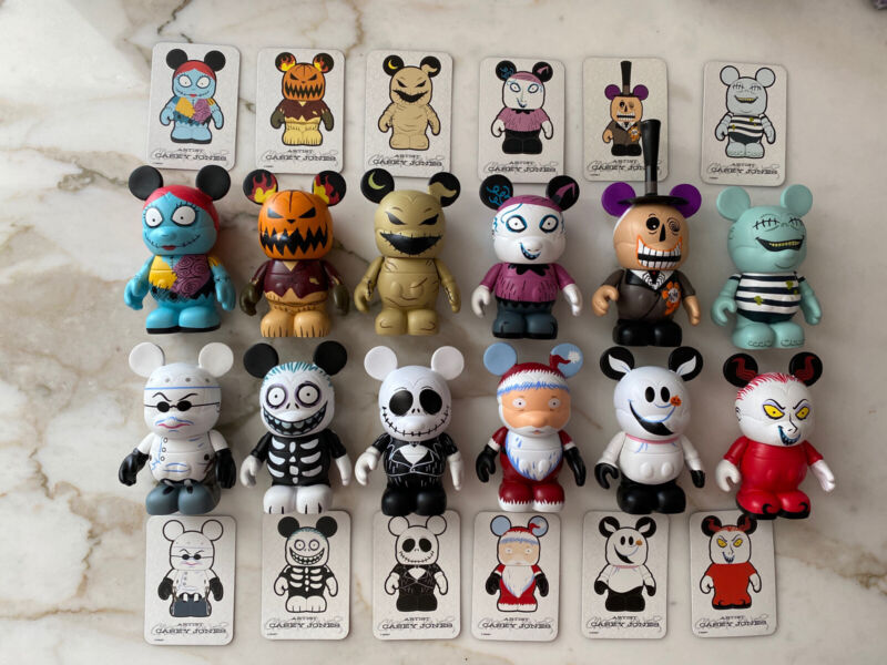 Disney Vinylmation Nightmare Before Christmas Series 1 Full Set of 12 with Cards