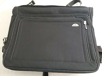 Samsonite Garment Luggage Bag Suitcase With Shoulder Strap & Zippers - Black