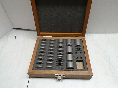 Precision Round Gage Block Set Near Complete .090 To 1.000