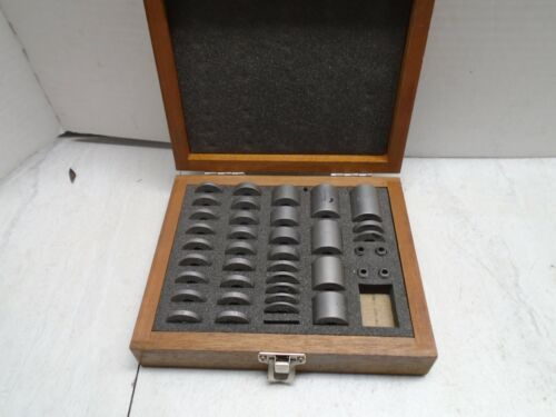 """PRECISION ROUND GAGE BLOCK SET NEAR COMPLETE .090"""" TO 1.000"""""""